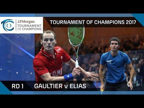 Squash: Gaultier v Elias - Tournament of Champions 2017 Rd 1 Highlights