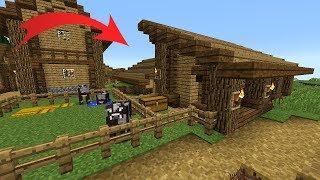 як зробити корівник в майнкрафт