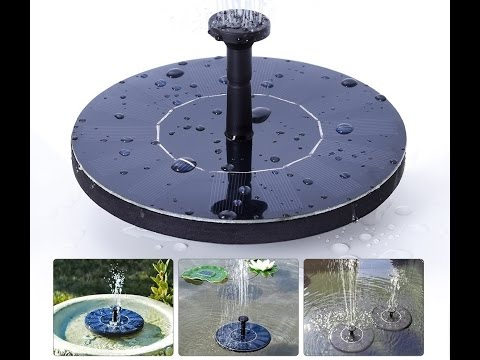 Solar Powered Water Bird Fountain