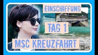 MSC KREUZFAHRT WESTEUROPA - 2018 - ANREISE - EINSCHIFFUNG in HAMBURG TAG 1 Urlaub