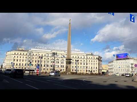 Санкт-Петербург из окна автомобиля, Лиговский и Невский проспект 5 апреля 2020 г. Saint-Petersburg
