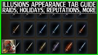 WoW Illusions Appearance Tab Full Guide - All Locations, Raids, Holidays, Reputations & More!