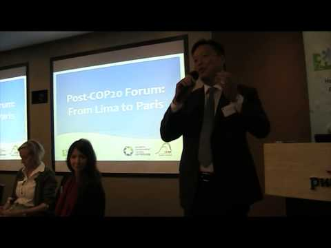 Post-COP20 Forum: From Lima to Paris: Closing Remark