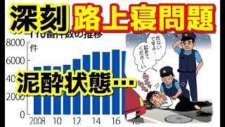 【禁酒断酒】泥酔  路上寝問題  深刻… ~沖縄の深刻な飲酒実態~
