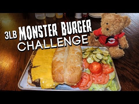 MONSTER BURGER CHALLENGE RECORD ATTEMPT!!