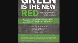 Green is the New Red. Will Potter Buchvorstellung in Hamburg. Veranstalter: Assoziation Daemmerung