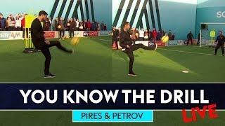 Robert Pires v Stiliyan Petrov v Jimmy Bullard | Lob Challenge | You Know The Drill Live