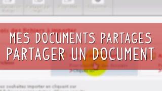 Mes documents Partagés NordNet - Comment partager facilement un document ?