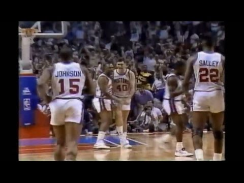 Bill Laimbeer Rains Five Clutch 3-Pointers in 1990 NBA ...