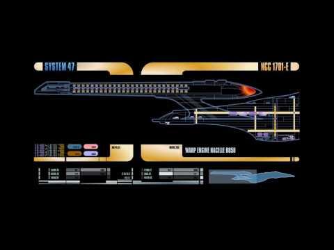 Star Trek: The Next Generation LCARS Display Screensaver 10 Hours