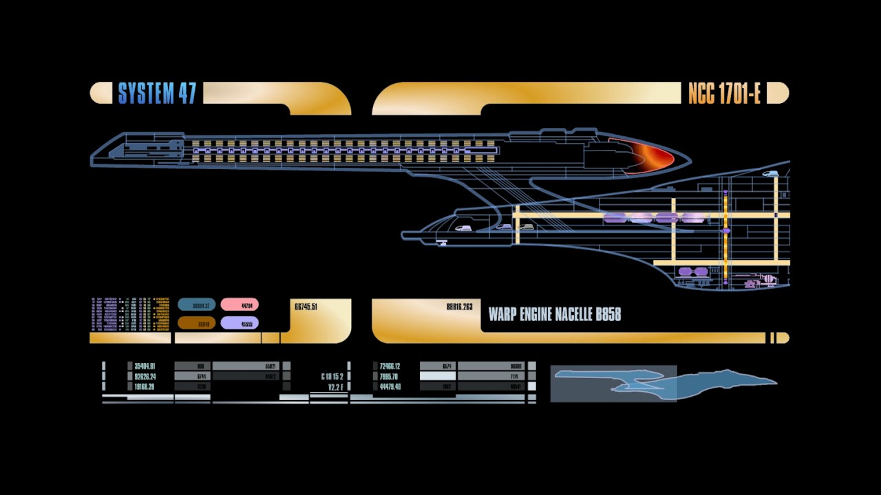 Star Trek: The Next Generation LCARS Display Screensaver