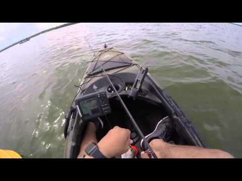 Tx kayak fishing sand bass 4k joe pool lake youtube for Joe pool lake fishing report
