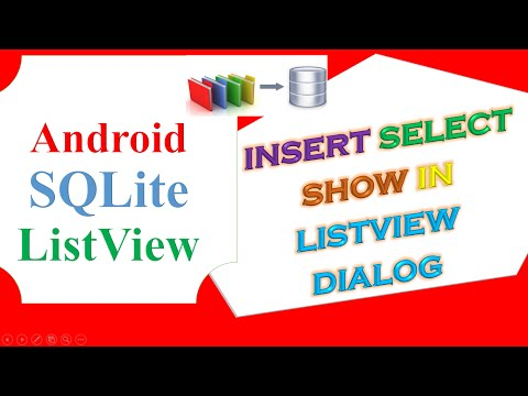 Android SQLite ListView -Insert,Select display in Dialog ListView Dynamically