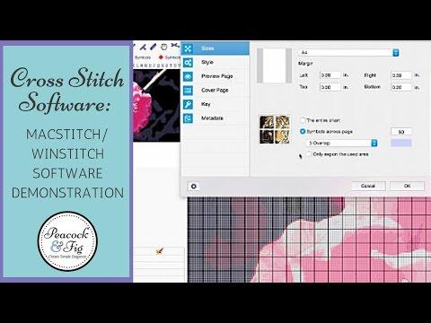 Macstitch Winstitch Cross Stitch Software Demonstration Youtube