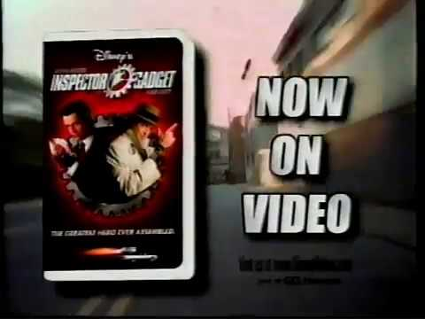 Disneys Inspector Gadget VHS And DVD Release Ad 1999