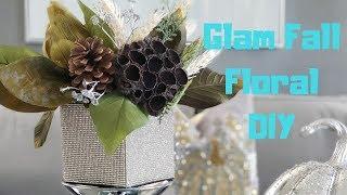 Glam Fall Floral DIY   glam otoño bricolaje  #glamfall