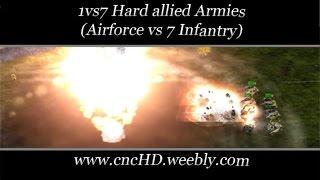 [C&C Zero Hour] 1vs7 - Air vs 7 Hard Infantry