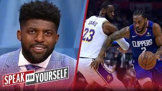 2020 NBA champion won't deserve asterisk, talks Dudley, Pat Bev — Emmanuel Acho   SPEAK FOR YOURSELF