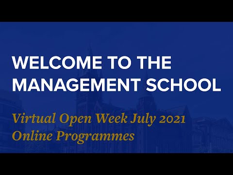 Introduction to the Management School - University of Liverpool Online Programmes MAY2021