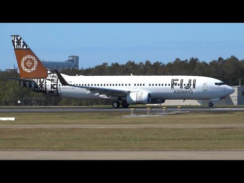 Fiji Airways Boeing 737-86J [DQ-FJM] | Taxi & Takeoff | Brisbane Airport