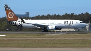 Video Fiji Airways Boeing 737-86J [DQ-FJM] | Taxi & Takeoff | Brisbane Airport download MP3, 3GP, MP4, WEBM, AVI, FLV Agustus 2018