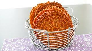 Coconut Pizzelles  wa&#39s Kitchen