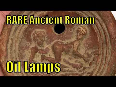 Authentic 1st 2ndCenAD  Ancient Roman MAN and WOMAN Embrace Terracotta Oil Lamps Artifact Collection