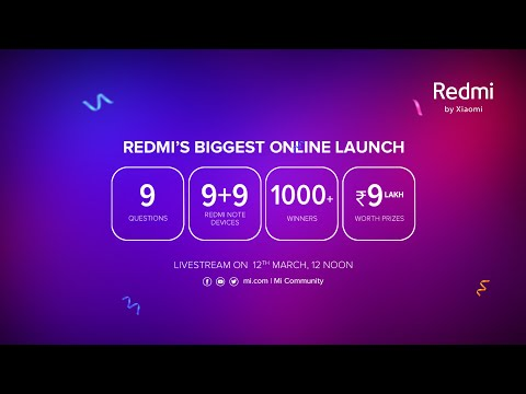 Redmi's Biggest Online Product Launch | #ProCamerasMaxPerformance