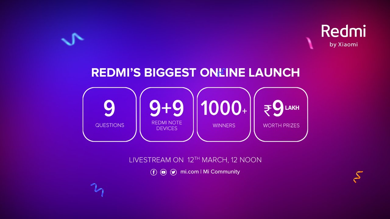 Redmi's Biggest Online Product Launch | #ProCamerasMaxPerformance