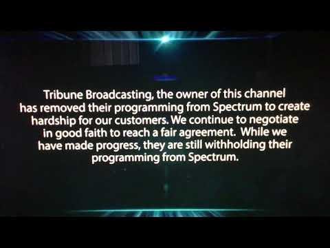 Charter Spectrum update about Tribune blackout (January 7-11, 2019)