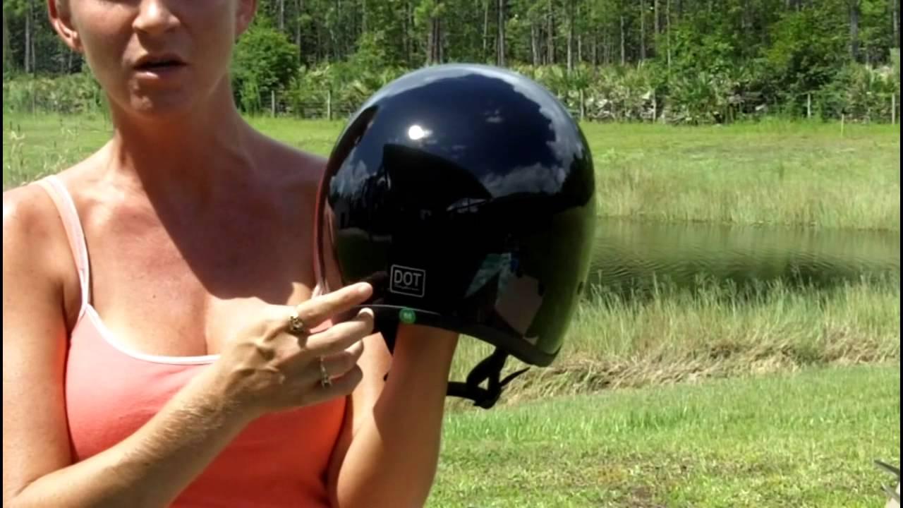 Motorcycle Helmets Dot >> DOT Daytona Hemlets Junior Cruiser - Kids Motorcycle Helmets - YouTube