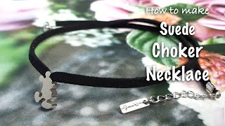 Handmade Fashion jewelry | Suede Necklace DIY| Fashion Acces…