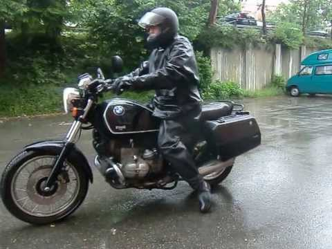 Belstaff Black Prince And Old Rubber Boots On My Motorbike