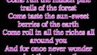 Vanessa Williams Colors of the wind with lyrics