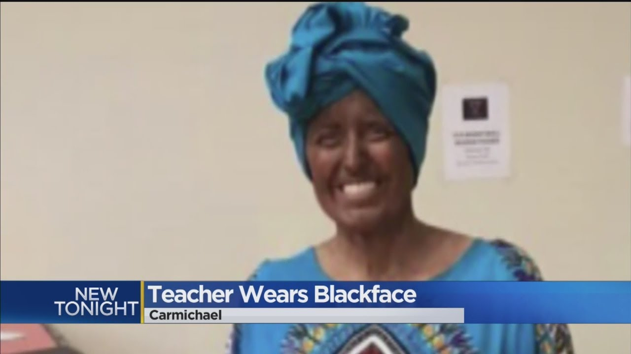 White Female Teacher Wears Blackface For Black History Month