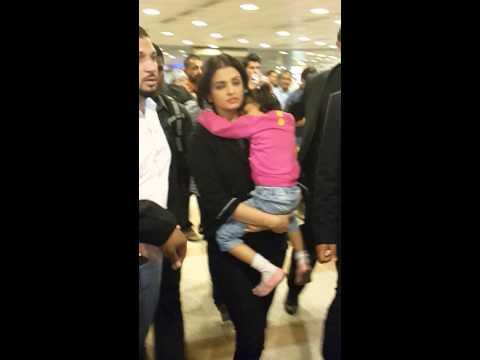 Aishwarya bachan in kuwait international airport