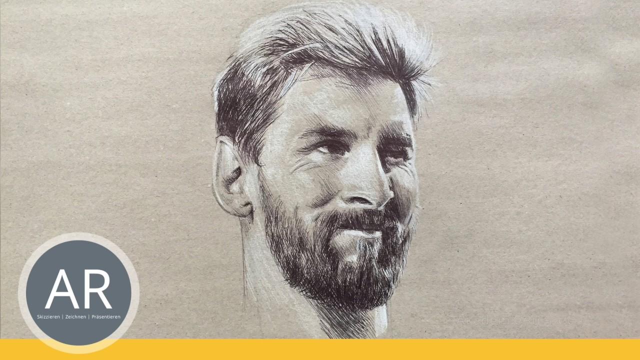 Wer Kennt Diesen Grossen Fussballer Portrats Zeichnen Lernen Mappenkurs Kunst