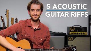 Top 5 Acoustic Guİtar RIFFS! (no chords)