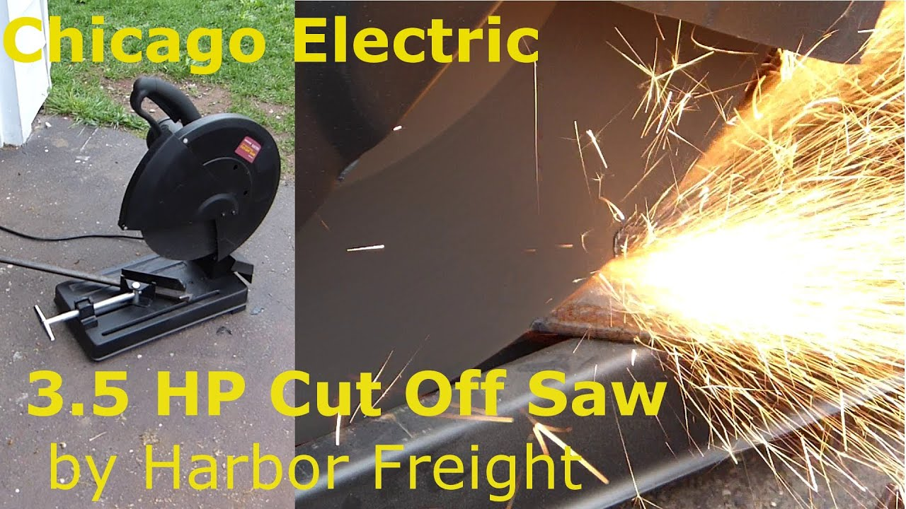 Chicago Electric 3 1 2 Hp 14 Cut Off Saw Review And Test