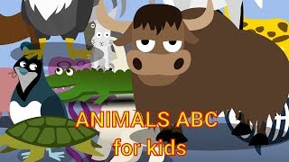 Animals ABC song - Educational video for kids