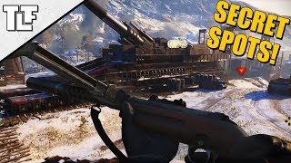 10 Call of Duty: WWII Secret Spots and Out of Map Glitches (COD WW2 Strafe Jumps)