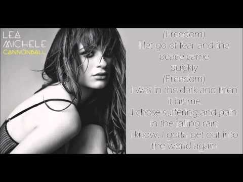 Lea Michele - Cannonball [ Lyrics] ® 2014