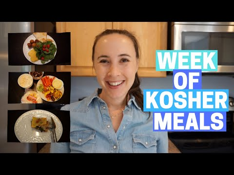 ONE WEEK OF KOSHER MEALS! What My Family Eats In A Week!