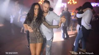 LINDA SAENZ & MARIO DOMINGUEZ Bachata Social Dance At THE SALSA ROOM