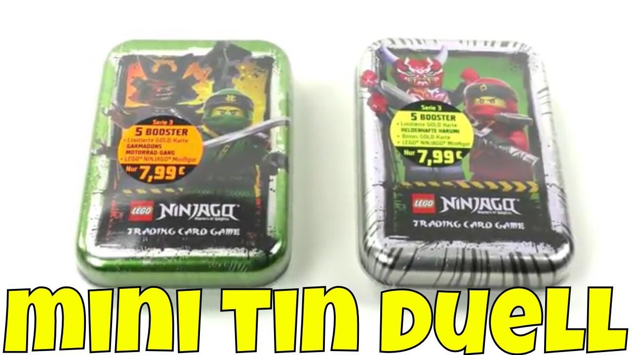 1 Mini Tin GRÜN Deutsch LEGO Ninjago Serie 5 Trading Cards