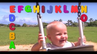 Learn English letters! abcdefg plus Alphabet song! Sign Post Kids!