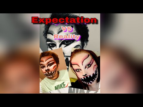 Horror Face Painting Tutorial | Expectations Vs Reality Face painting