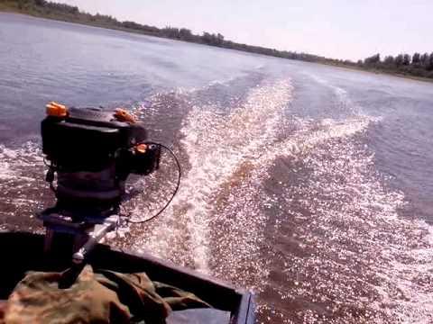 самодельная лодка с мотором от газонокосилки