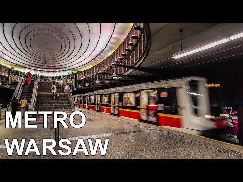 🇵🇱 Warsaw Metro - All The Lines [M1 & M2] (4K) (2020)