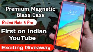 Exclusive Magnetic Glass Case For Redmi Note 5 pro, Special Giveaway in this video